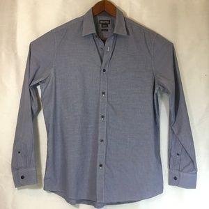 Micheals Kors Men's Button Up Long Sleeve Shirt Lg